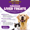 Hoss & Duke's Furocious Liver Treats label with instructions and a dog and a cat