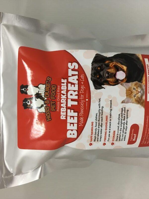 Rebarkable Beef Treats Bag of Treats White Background