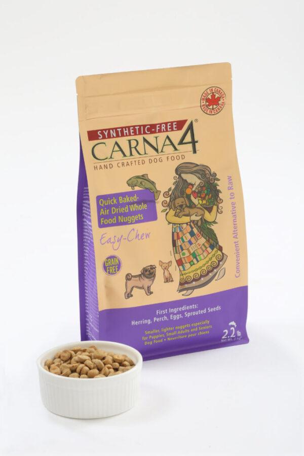 Carna4 fish formula dog food with bowl