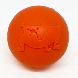 SP SMILE BALL ULTRA DURABLE SYNTHETIC RUBBER CHEW TOY & FLOATING RETRIEVING TOY - MEDIUM - ORANGE