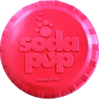 SP PUPPY BOTTLE TOP FLYER DURABLE RUBBER RETRIEVING FRISBEE FOR PUPPIES - PINK