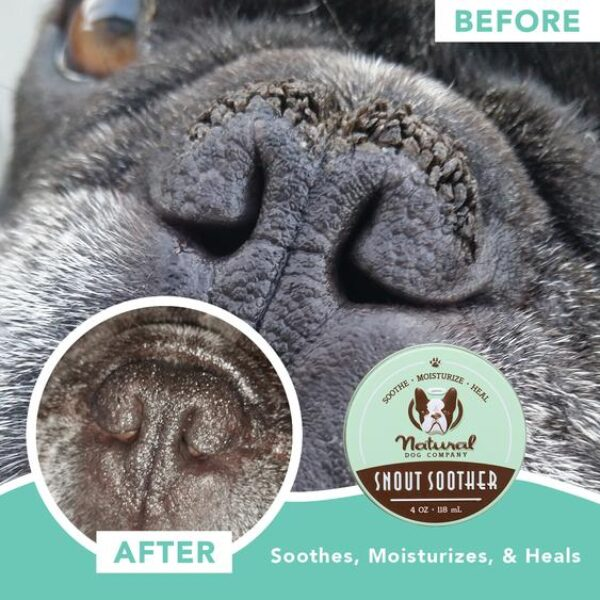 snout soother for dogs before and after