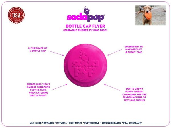 Bottle Top Puppy Frisbee information
